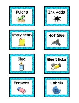 Supply Labels - BLUE