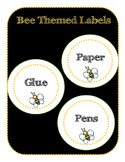 Supply Labels - Bee themes