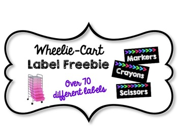 Supply Labels- Black, White and Neon Themed