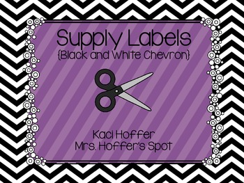 Supply Labels {Black and White Chevron}