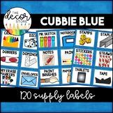 Supply Labels: Blue   Classroom Decor