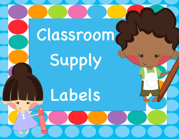 Supply Labels Blue Dots