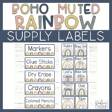 Supply Labels - Boho Rainbow Supply Labels