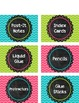 Supply Labels - Bold Chevron - Editable