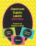 Supply Labels - Bold Chevron - Editable