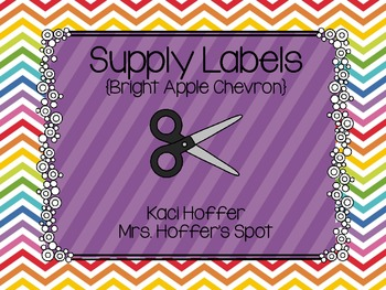 Supply Labels {Bright Apple Chevron}