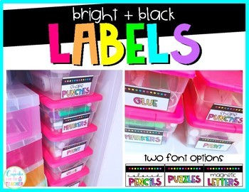 Supply Labels: Bright & Black