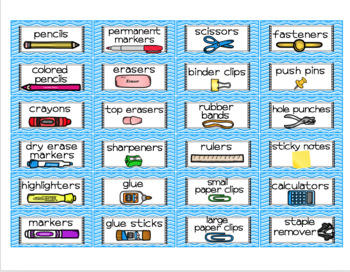 Supply Labels Bright Clean Lines Design