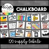 Supply Labels: Chalkboard   Classroom Decor