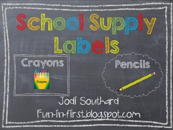 Supply Labels {Chalkboard Style}