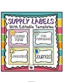 Supply Labels (Chevron)