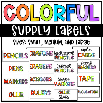 Supply Labels - Colored