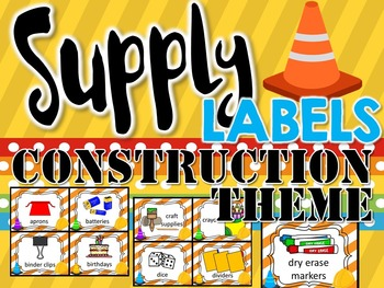 Supply Labels Construction Theme