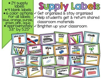 Supply Labels {EDITABLE}