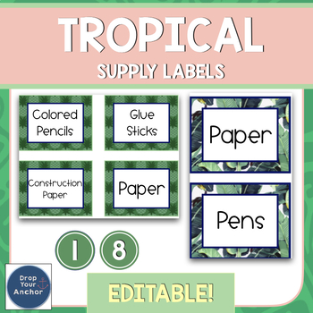 Editable Supply Labels  - Tropical