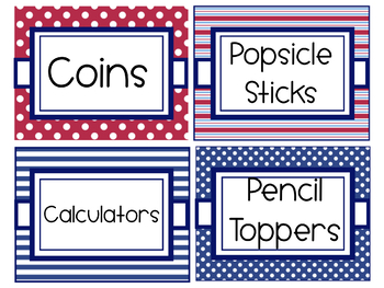 Supply Labels Editable- Nautical
