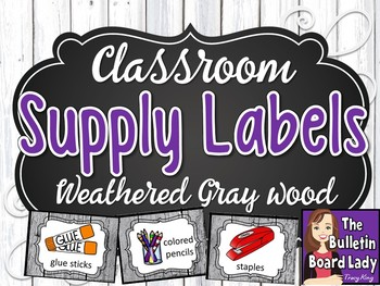 Supply Labels - Farmhouse Theme