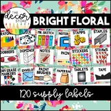 Supply Labels: Floral   Classroom Decor