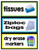 Supply Labels Freebie
