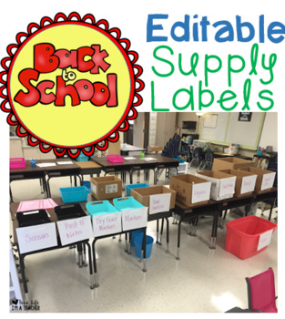 Supply Labels Freebie - Back to School