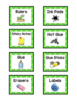 Supply Labels - GREEN