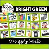 Supply Labels: Green | Classroom Decor