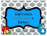 Supply Labels, Library Labels, & Numbers *UPDATED*