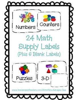 Supply Labels (Math)