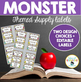 Supply Labels Monster Themed