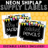 Supply Labels (Neon Shiplap)
