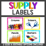 Supply Labels Neon Themed