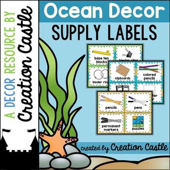Supply Labels  - Ocean Decor