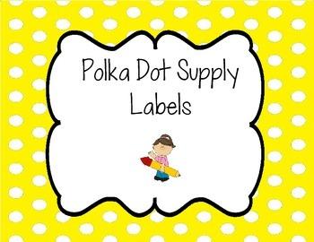 Supply Labels, Polka Dot
