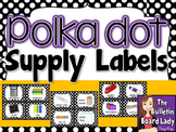 Supply Labels - Polka Dots