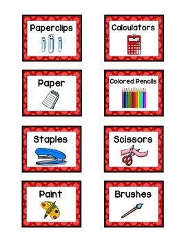 Supply Labels - RED