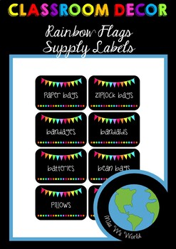Supply Labels - Rainbow Flags