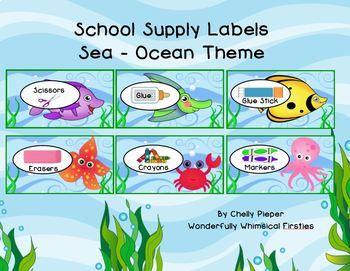 Supply Labels   Sea - Ocean Theme