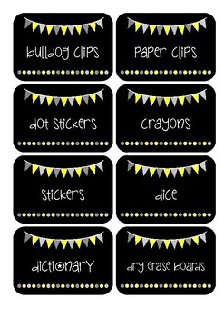 Supply Labels - Sunshine Flags