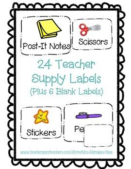 Supply Labels (Teacher)