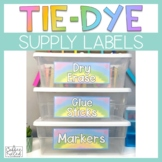 Supply Labels Tie Dye Theme