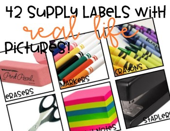 Supply Labels With Real Life Pictures