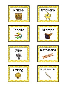 Supply Labels - YELLOW