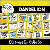 Supply Labels: Yellow | Classroom Decor