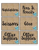 Supply Labels and Classroom Passes