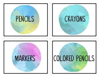 Supply Labels for Beach Classroom
