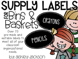 Supply Labels for Bins & Baskets