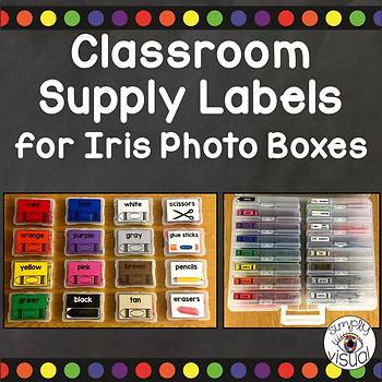 Supply Labels for Iris Photo Boxes FREEBIE