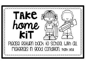 """Supply Labels for """"Take-Home Kits"""" {FREEBIE}"""
