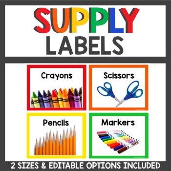 Supply Labels in Primary and White
