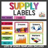 Supply Labels Rainbow Themed